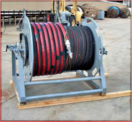 "2"" x 400' Floater Hose with Hand Cranked Reel"